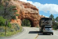 I'm Heading into tunnel in Red Canyon, Utah