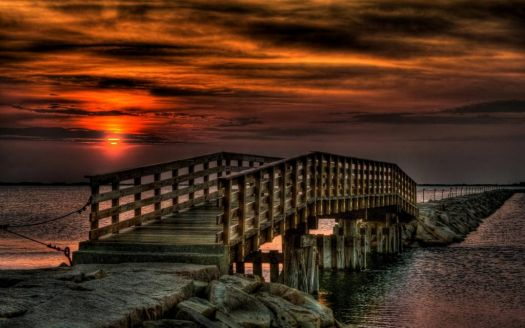 Sunset at the Footbridge