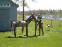 metal horse & man