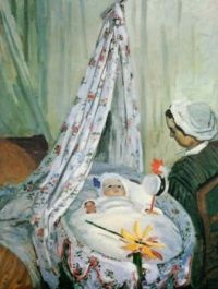 Claude Monet - Jean Monet in His Cradle with Julie Vellay, 1867 (May17P13)