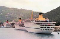 CUNARD COUNTESS, CARLA C and ATLANTIC, St Thomas US Virgin Islands