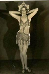 Vintage photo of a showgirl