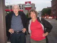 My father and I in Montreal.  We didn't realize we were making the same pose. My daughter took the picture.
