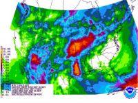 Rain probabilities, next seven days