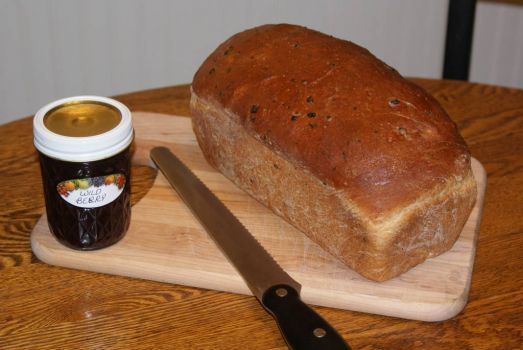 Honey Wheat Bread and Wild Berry Jelly