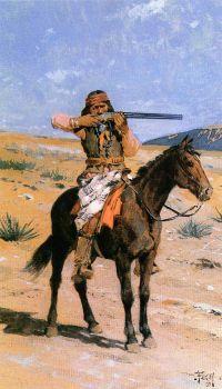 Henry Farny (American, 1847–1916), The Long Shot (1891)