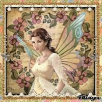 Vintage butterfly fairy