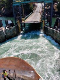 Ferryn approaching Lopez Island, WA