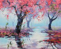 Australian landscape oil painting