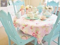 Pink and blue table