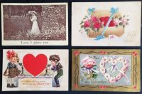 Antique Valentines Postcards 2 - Over 100 years old