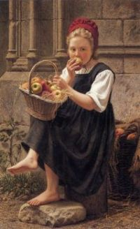 Charles Victor Thirion (1833-1878) - The Apple Girl