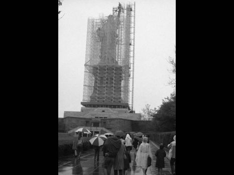 The Statue of Liberty - getting ready for restoration