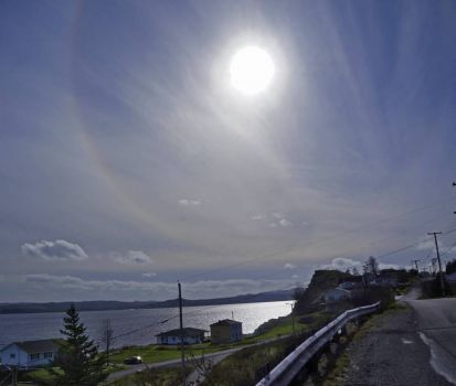 Sun Halo over Bay Roberts, NL