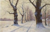Walter Moras--Alley in Winter