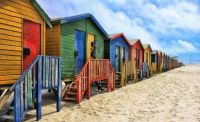 Colorful Beach Cottages *south-africa-863821_1280