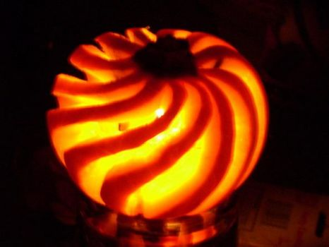 Cool carved pumpkin!