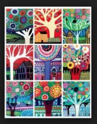 Group of Tree Paintings by Heather Galler