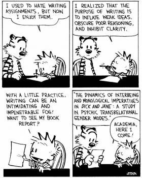 Calvin and Hobbes re:writing
