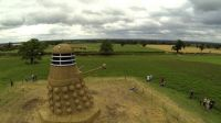 Giant Dalek made of straw