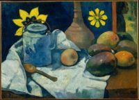Paul Gauguin  Still Life with Teapot and Fruit 1896