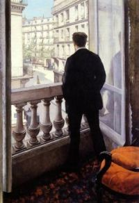 Young man at a window