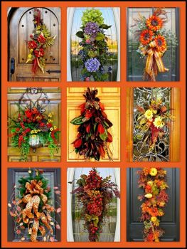 Door Swags for Fall! (med)  * link to large puzzle inside
