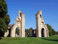 Glastonbury Abbey from the front