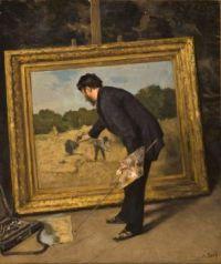 Anna Boch, Portrait d'Isidore Verheyden dans son atelier, 1883-1884,