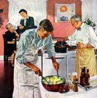 When men decide to cook