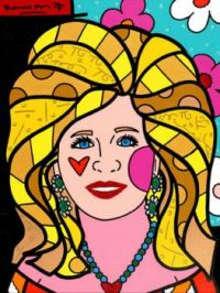 Claudine by Romero Britto