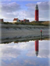 The lighthouse from Texel Netherlands