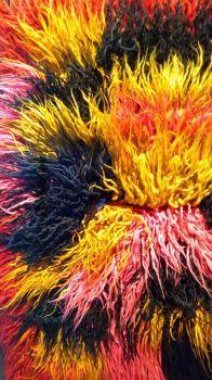Pre colombian carpet made of llama wool