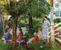 Birthday in the Garden by Nikolai Astrup