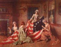 Betsy-Ross Making US flag