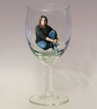 Girl in a glass