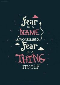 Fear of a name.