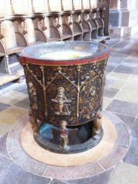 Døbefont i Ribe Domkirke