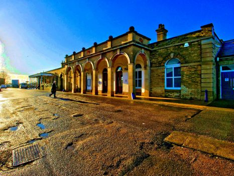 HDR of the railway station at Boston, Lincolnshire - 3rd Dec 2012