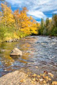 Sturgeon River, upstream from Canyon Falls near L'Anse, Michigan  USA