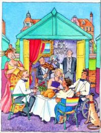 Dressed-to-the-Nines Dinner in a Beach Hut