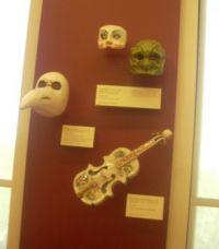 Masks and violin