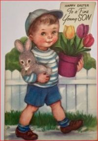 Themes Vintage Easter Greeting Card
