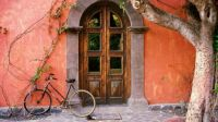 Vintage: Old Door & Bicycle