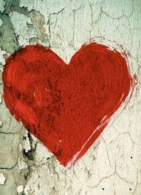 Heart on Peeling Paint