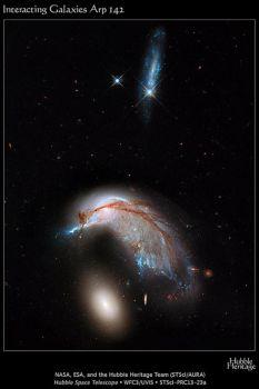 Two galaxies merging