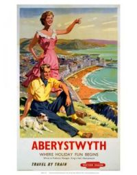 Aberystwyth (poster ad about railway travels)