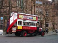 Vintage Bus outside Chester Cathedral
