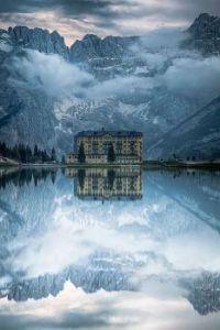 The Grand Hotel, Lake Misurina, Italy