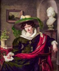 Portrait of Carolina Frederica Kerst